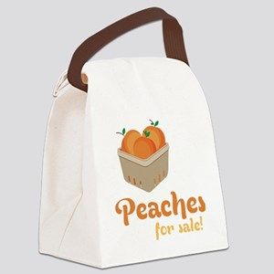 Peaches For Sale Canvas Lunch Bag