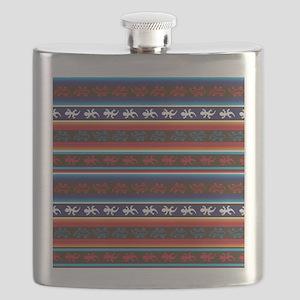 Seamless Mexican lizard fabric pattern Flask