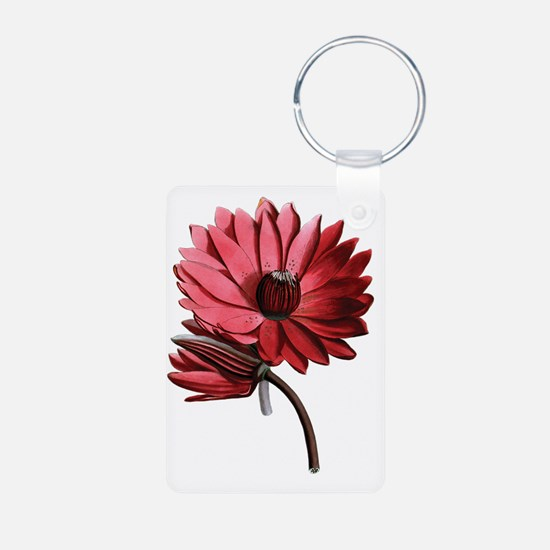 Red Water Lilies Keychains