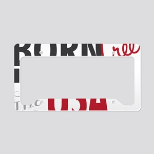 Born Free License Plate Holder