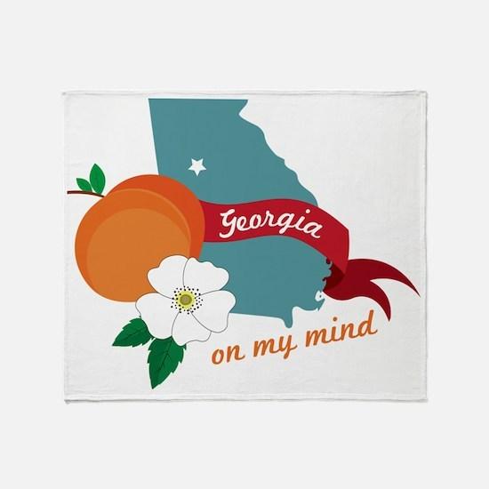 Georgia On My Mind Throw Blanket