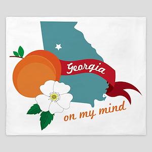 Georgia On My Mind King Duvet