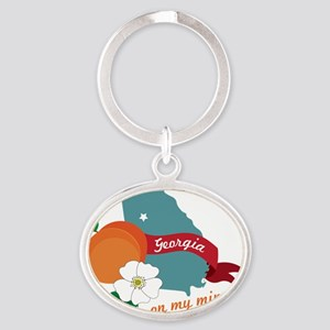 Georgia On My Mind Oval Keychain