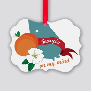 Georgia On My Mind Picture Ornament