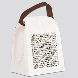 Large group of 471 cats breeds in Canvas Lunch Bag