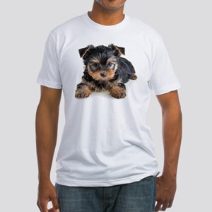 Yorkshire Terrier Puppy Fitted T-Shirt