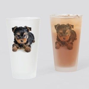 Yorkshire Terrier Puppy Drinking Glass