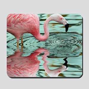 Pink Flamingo Reflection Mousepad