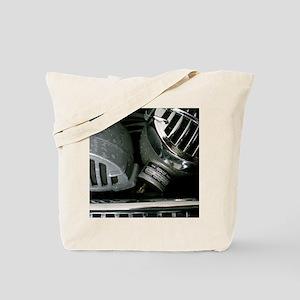 Harmonica and Vintage Microphones Tote Bag