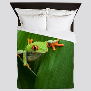 Red eyed tree frog Queen Duvet
