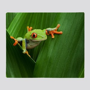 Red eyed tree frog Throw Blanket