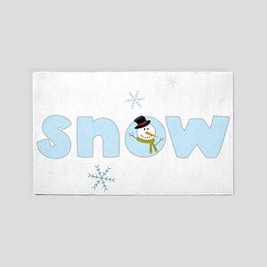 Snow 3'x5' Area Rug