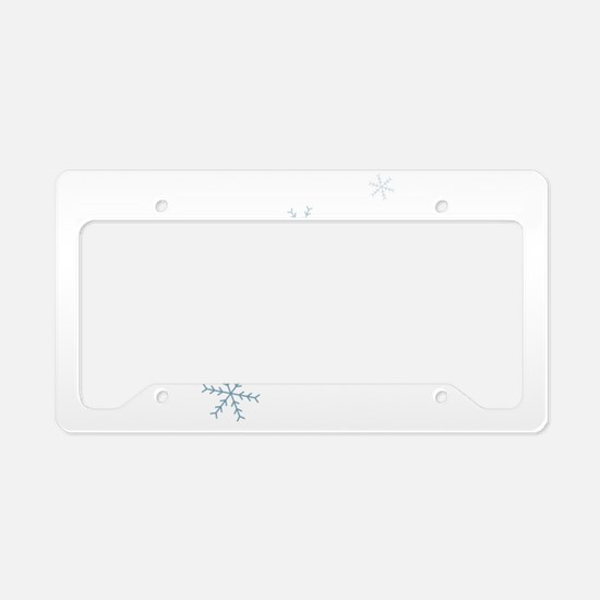 Snow License Plate Holder