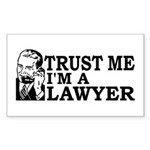 Trust Me I'm a Lawyer Rectangle Sticker