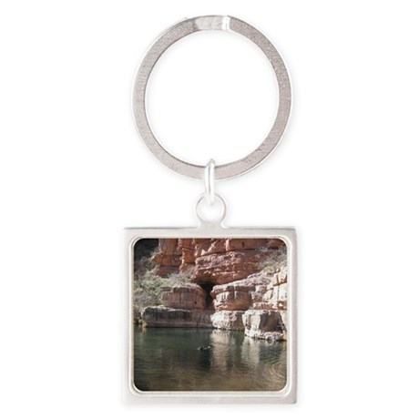 Old Swimming Hole Square Keychain