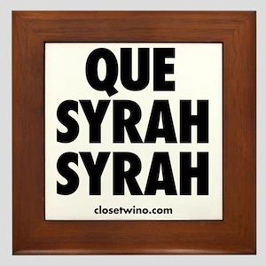 Que Syrah Syrah Framed Tile