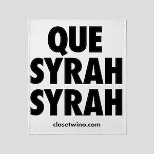 Que Syrah Syrah Throw Blanket