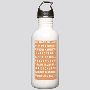 Peach NZ Cities Stainless Water Bottle 1.0L