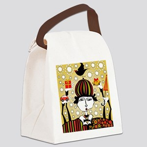 Clown With Presents Canvas Lunch Bag