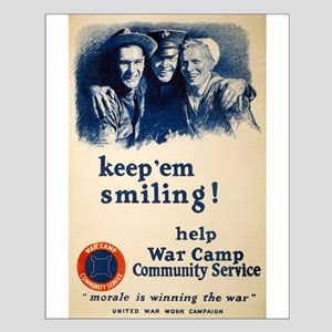 Keep Em Smiling - M Leon Bracker - 1918 - Poster P