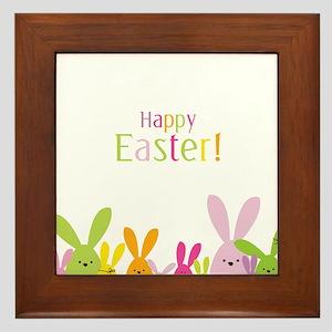 Easter Rabbits Framed Tile