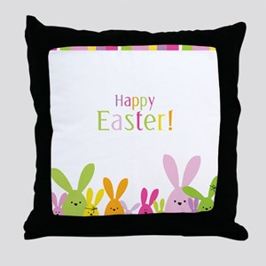 Easter Rabbits Throw Pillow