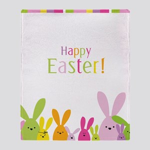 Easter Rabbits Throw Blanket