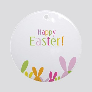 Easter Rabbits Round Ornament