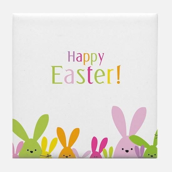 Easter Rabbits Tile Coaster