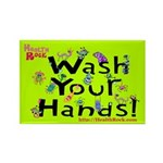 Wash Your Hands Rectangle Magnet