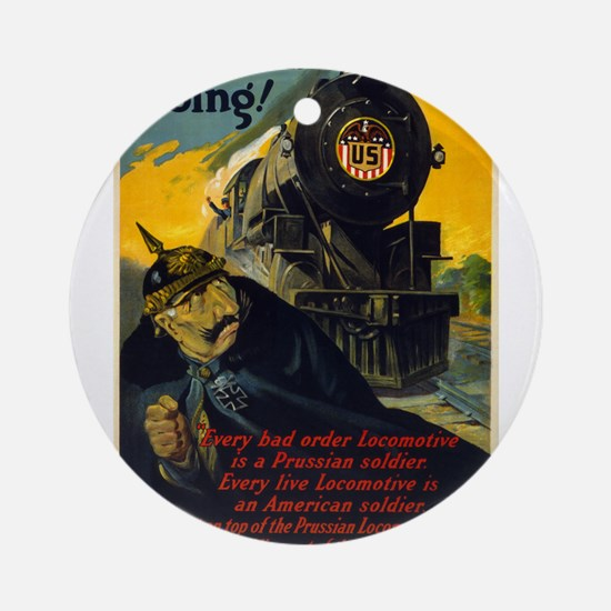 Keep Em Going - W G McAdoo - 1917 - Poster Round O