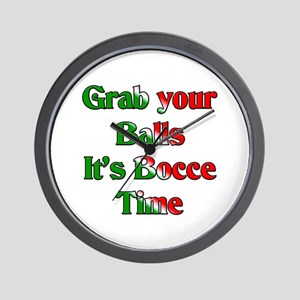 Grab your Balls. It's Bocce T Wall Clock