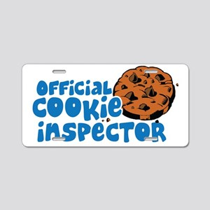 Official Cookie Inspector Aluminum License Plate