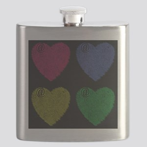 Four Hearts Online Love Flask