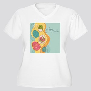 Easter Eggs Women's Plus Size V-Neck T-Shirt