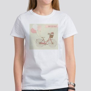 Bicycle with balloons and a basket Women's T-Shirt