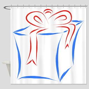 gift box Shower Curtain