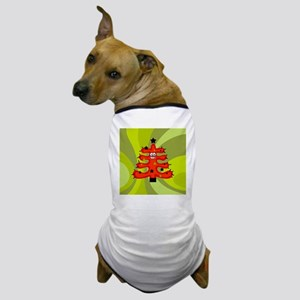 Funky Retro Tree Dog T-Shirt
