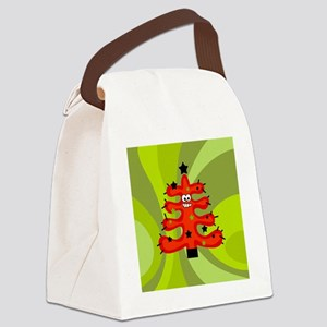 Funky Retro Tree Canvas Lunch Bag