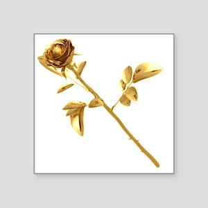 "Gilded Rose Square Sticker 3"" x 3"""