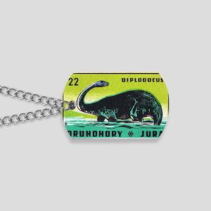 Diplodocus Dinosaur Czechoslovakia Matchb Dog Tags