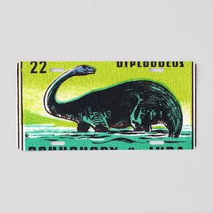 Diplodocus Dinosaur Czechos Aluminum License Plate