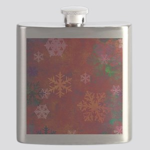 Grunge Snowflakes Flask