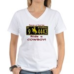 Ride a Cowboy Women's V-Neck T-Shirt