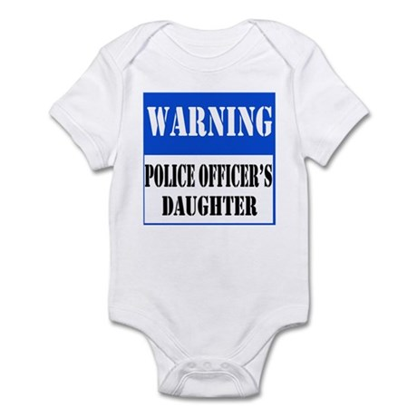 Police Warning-Daughter Infant Bodysuit