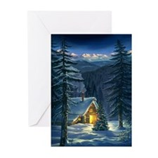 Christmas Snow Landscape Greeting Cards (Pk of 20)