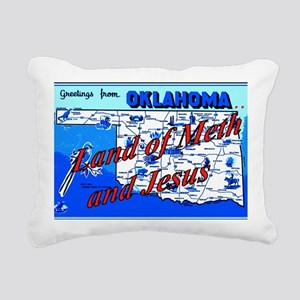 Land of meth and jesus Rectangular Canvas Pillow