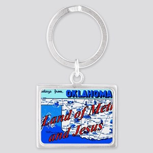 Land of meth and jesus Landscape Keychain