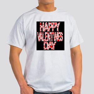 Happy Valentines Day With Hearts Light T-Shirt