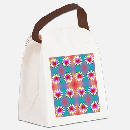 Hearts Background Canvas Lunch Bag